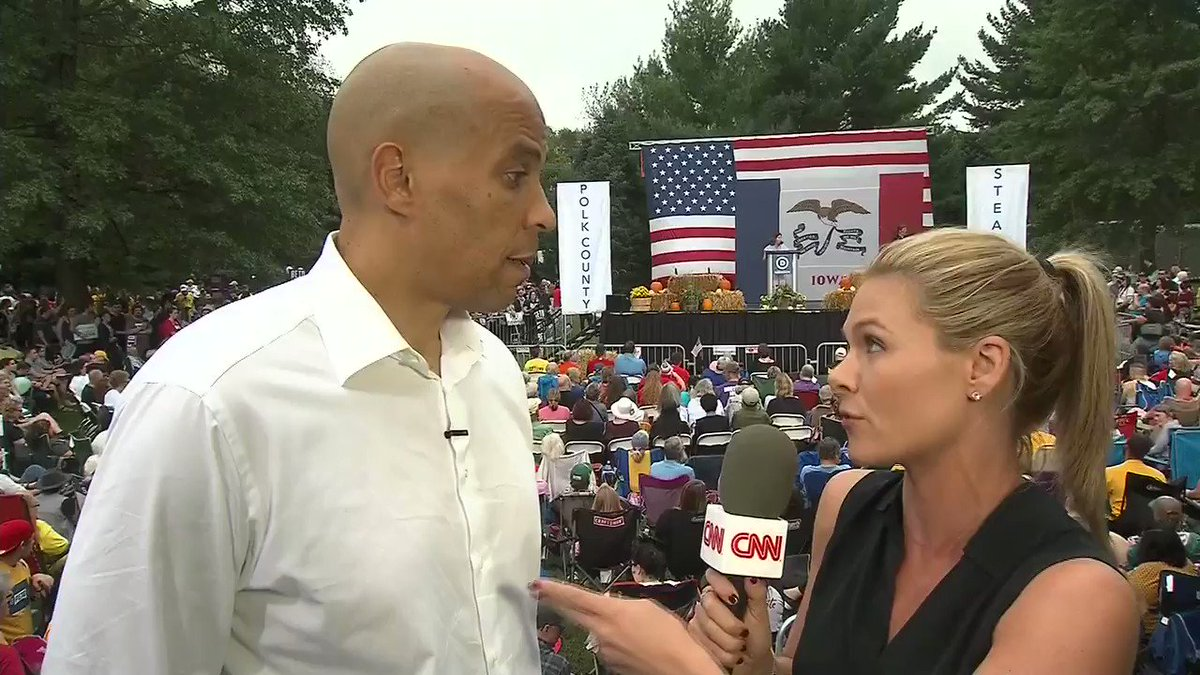 """Image for the Tweet beginning: Sen. Cory Booker: """"We can't"""