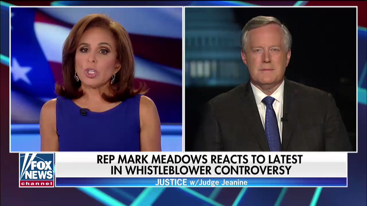.@RepMarkMeadows reacts to the latest in the whistleblower controversy:
