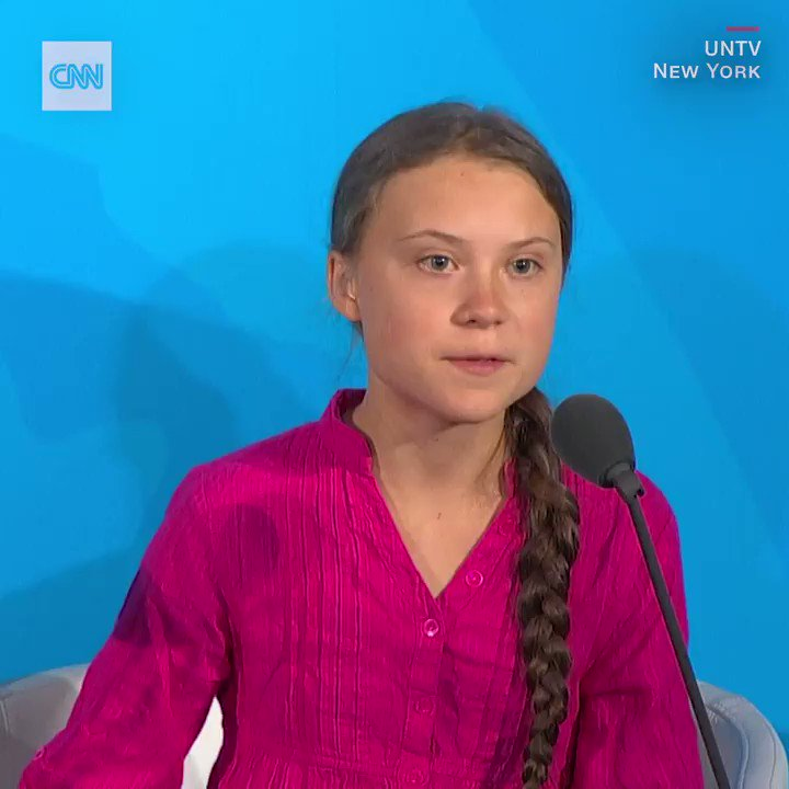 You have stolen my dreams and my childhood with your empty words, climate activist Greta Thunberg tells the UN. We are in the beginning of a mass extinction and all you can talk about is money and fairy tales of eternal economic growth. How dare you. cnn.it/2mAXVQb