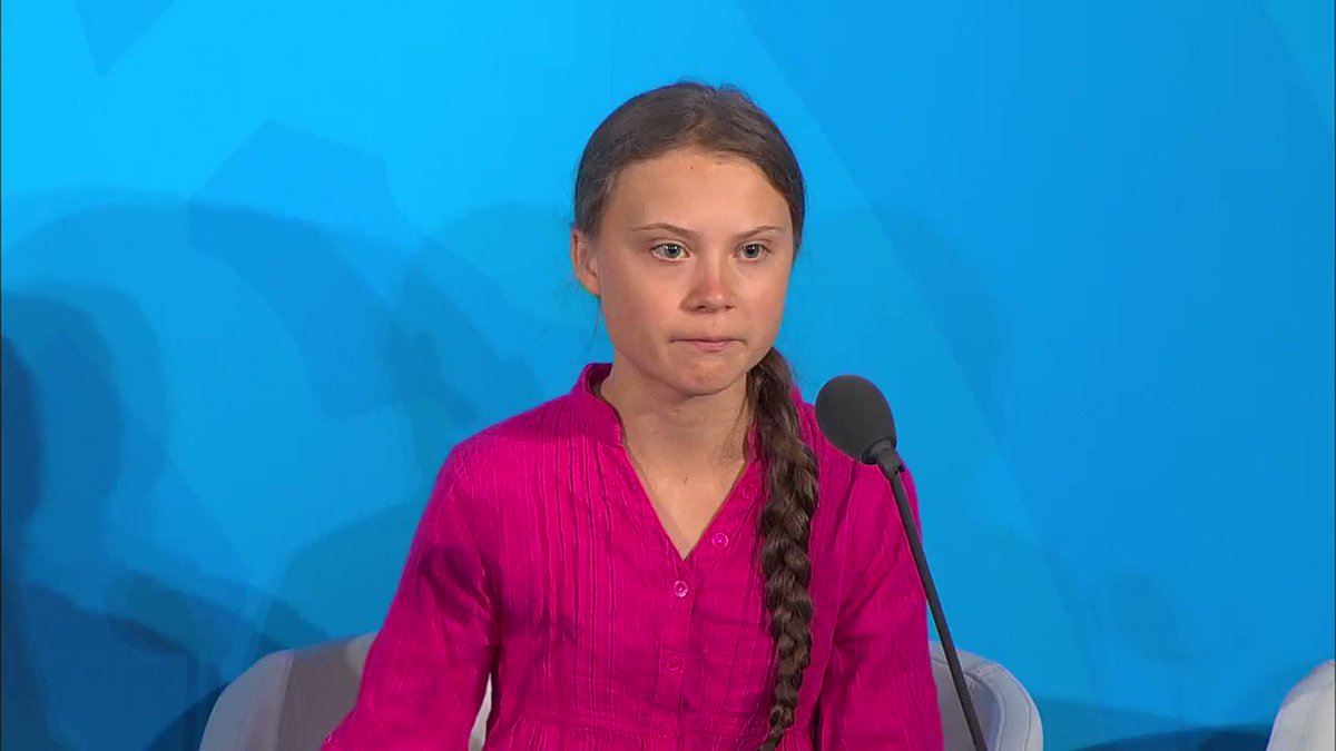 Greta Thunberg: This is all wrong. I shouldnt be up here. I should be back in school on the other side of the ocean. Yet you all come to us young people for home. How dare you! You have stolen my dreams and my childhood with your empty words. hill.cm/zyBiTIa