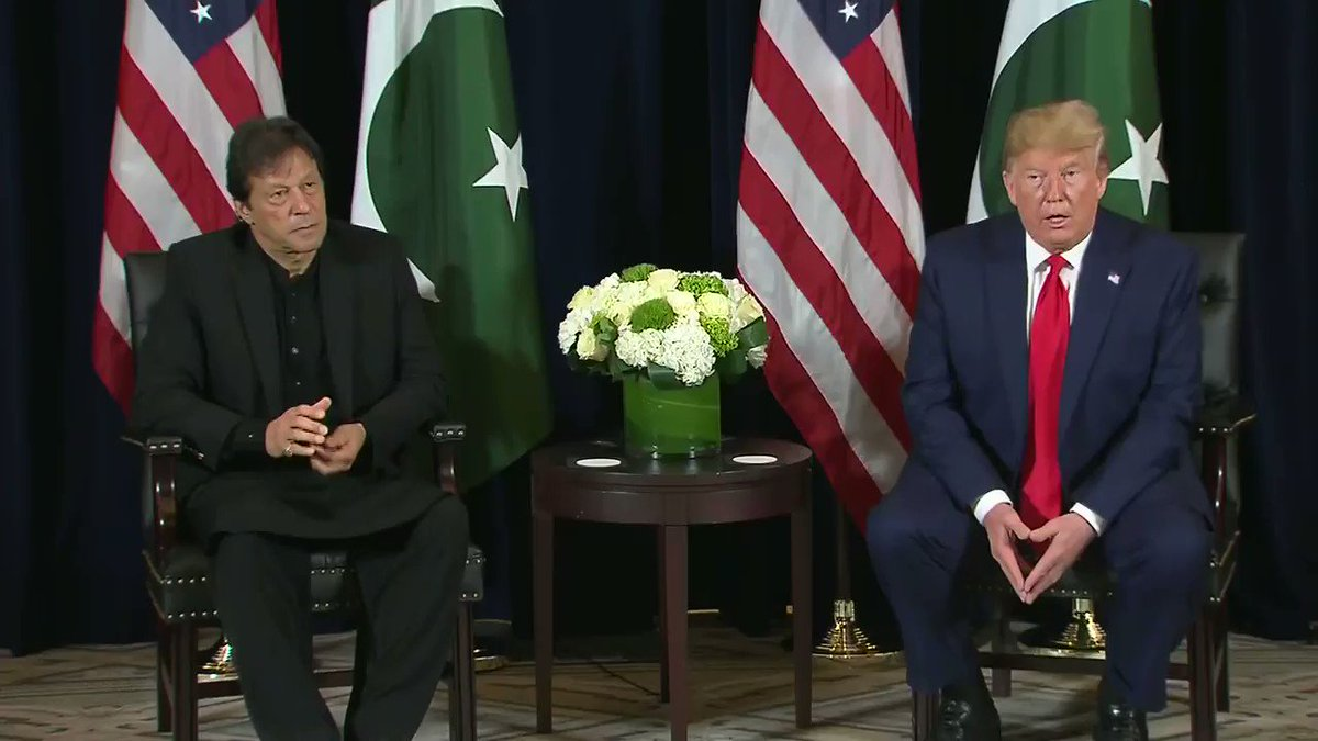 President Trump on Kashmir talks: Certainly I would be willing to help if both Pakistan, lets say, and India wanted me to do that. I am ready, willing, and able.
