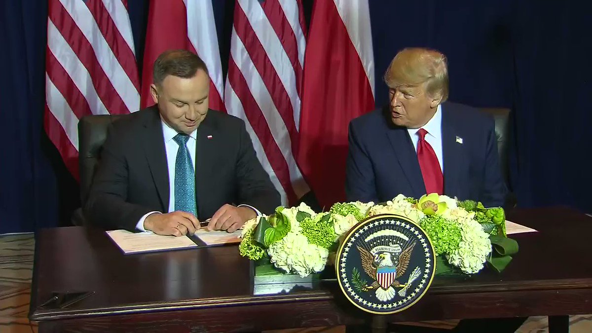 YESTERDAY: President Trump meets with Polish President Andrzej Duda. #UNGA