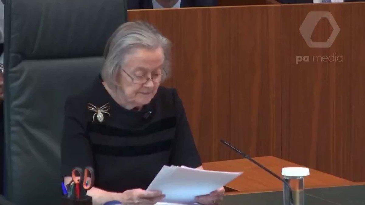 Lady Hale, U.K. Supreme Court Judge, Speaks Calmly and Brings Down the Hammer