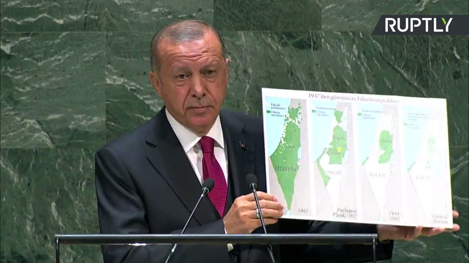 Where are the borders of the State of #Israel? – #Turkey's #Erdogan to #UNGA