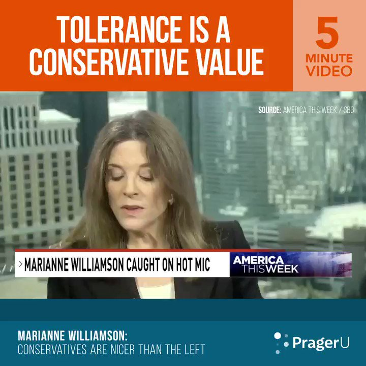 Image for the Tweet beginning: Marianne Williamson was caught on