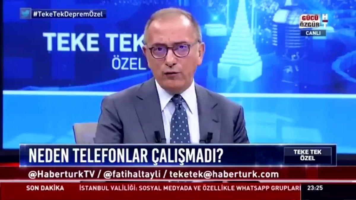 Fatih Altaylı'nın cep telefonu operatörlerine söyledikleri.   @fatihaltayli