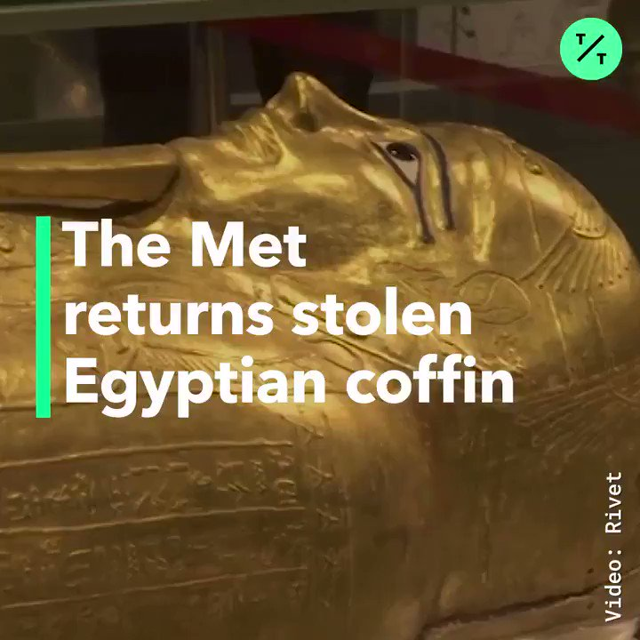 The Met is returning this 2,100-year-old Egyptian coffin.It was stolen and smuggled out of the country in 2011