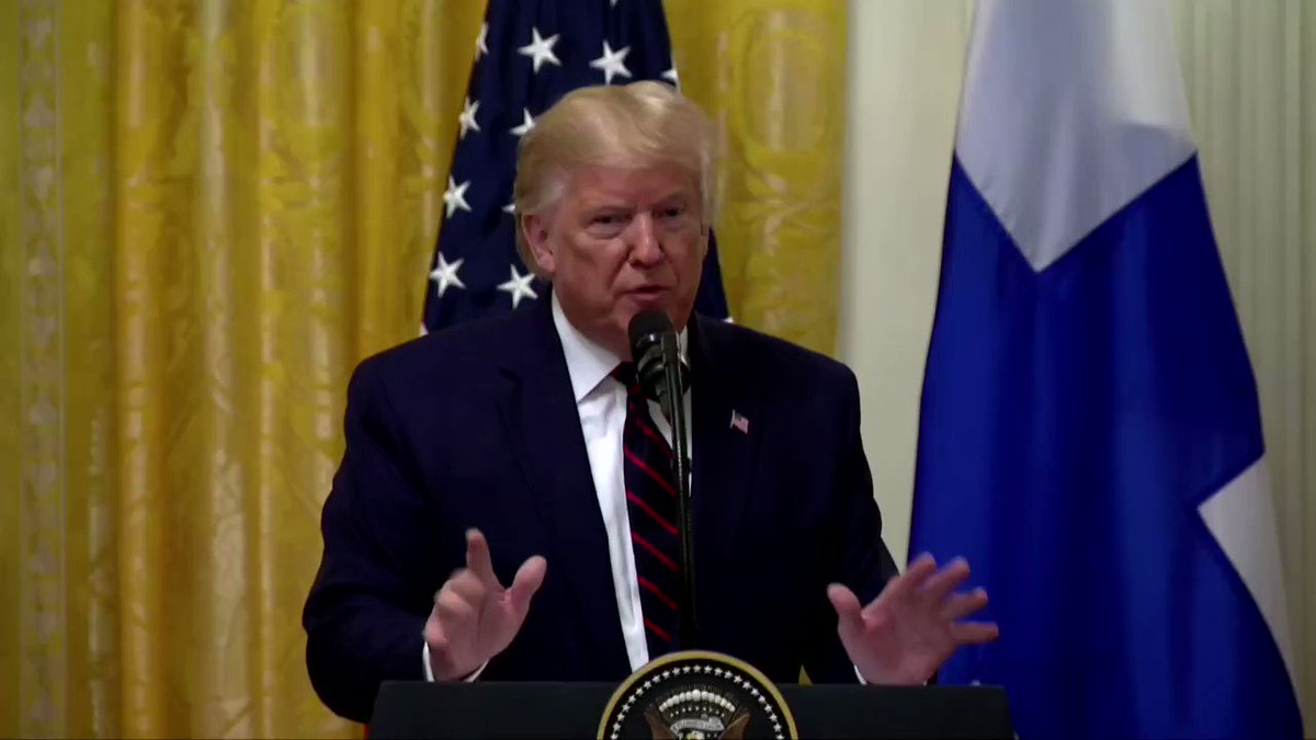 President Trump lashed out at @Reuters reporter @jeffmason1, who asked him what he wanted Ukrainian President Volodymyr Zelenskiy to do when Trump brought up the business ties to Ukraine of Hunter Biden, son of Joe Biden https://reut.rs/2nLI6ao