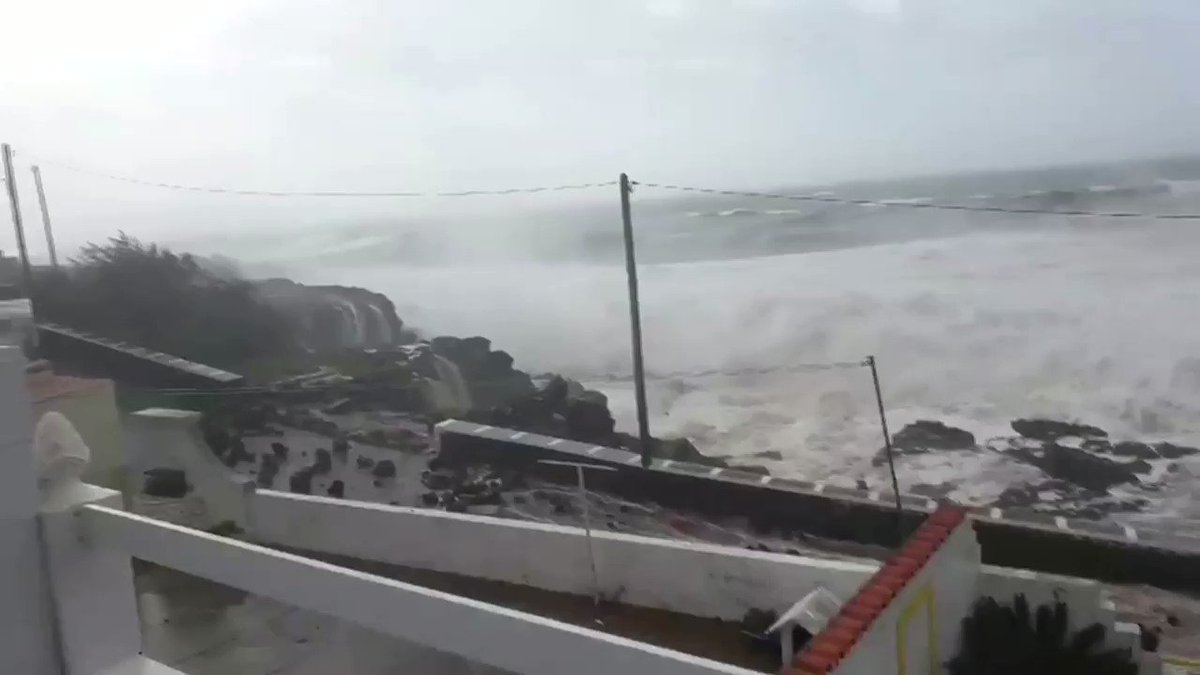 Hurricane Lorenzo brings huge waves to Portugal's Azores islands