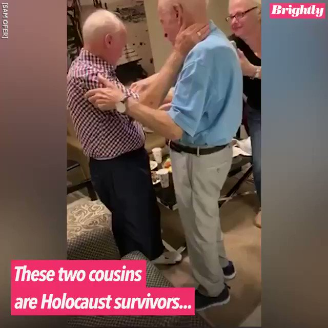 Your dose of beauty today. Two cousins, Morris Sana and Simon Mairowitz have been reunited after 75 years. In 1944, they lost each other while attempting to flee from the Nazis in World War II.