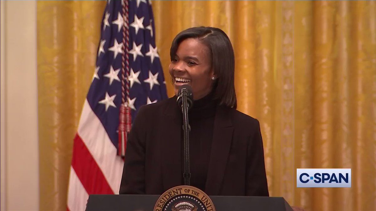"""""""CNN is a racist network in my opinion.""""  Candace Owens (@RealCandaceO) speaks at White House Young Black Leadership Summit.  Full video here: https://t.co/NJPCS4YtSB https://t.co/YKs1h2rMEP"""