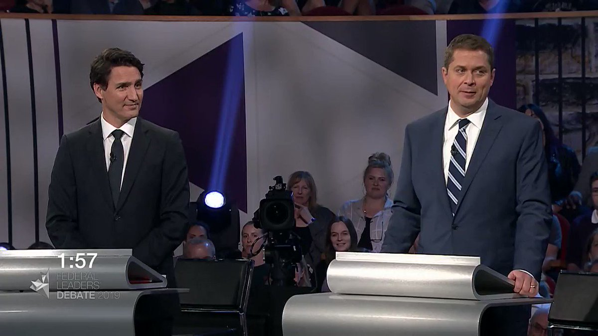 """Quote of the night. 👏👏👏 .@theJagmeetSingh """"You do not need to choose between Mr. Delay and Mr. Deny. There is another option. This election vote for the planet. #elx43 #leadersdebate2019 #cdnpoli #climate #energy"""