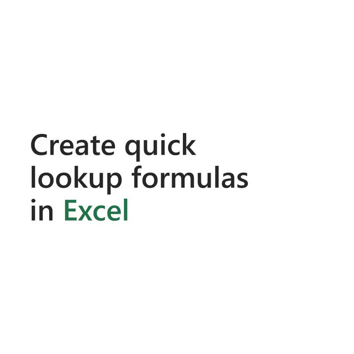 34 years later. The successor to the iconic function, VLOOKUP, has arrived. Say hello to XLOOKUP. 👀👋 msft.social/CdNMyY