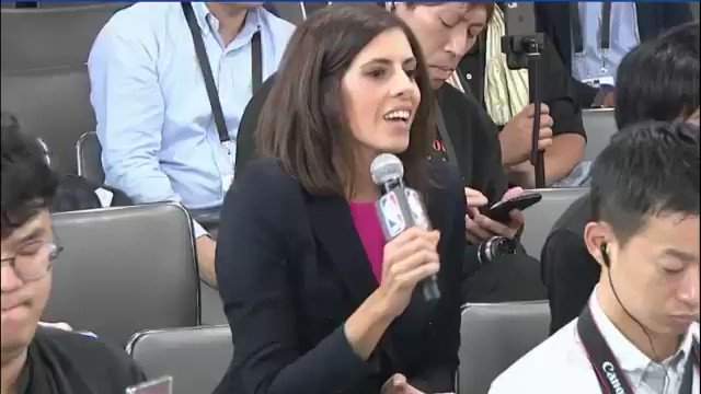 A CNN reporter gets shut down immediately when she asks NBA superstars if they will speak out about #FreeHongKong amid the leagues China controversy. This is something wed expect out of China, not the NBA. Cowards.