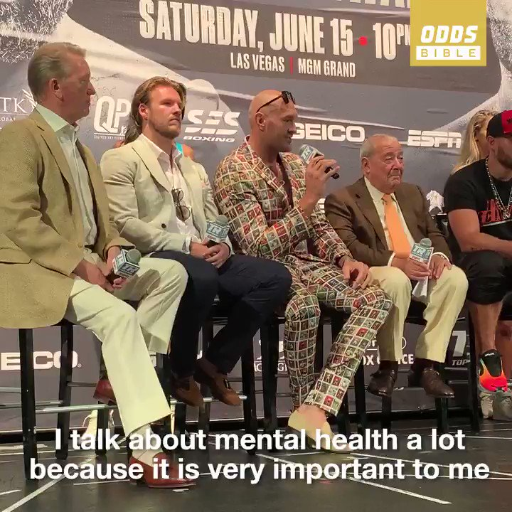 Throwback to @Tyson_Fury talking about his battle with mental health before his fight against Tom Schwarz #WorldMentalHealthDay