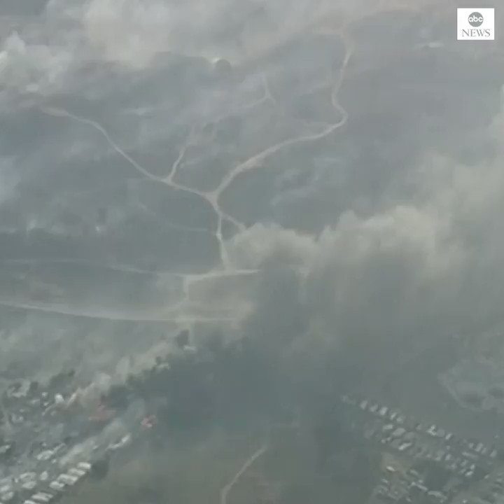 Several blazes have broken out across California as utilities shut off power to prevent electrical lines from sparking fires in dry, windy weather. abcn.ws/2pfQD5q