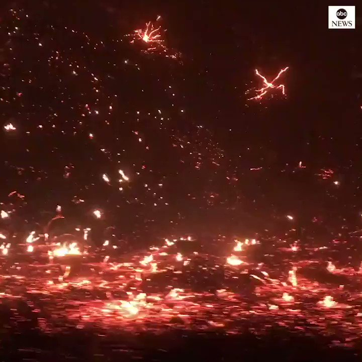 Drive through Porter Ranch, California, shows fast-moving flames that have swept through communities overnight. abcn.ws/2OGh0w3