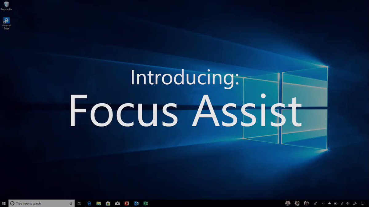 Get in the zone -- and stay there. Remove distractions from notifications with Focus Assist. http://msft.social/mxDALd