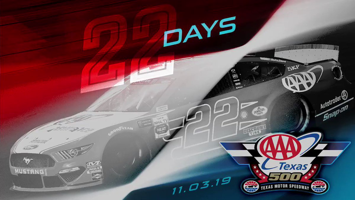Its getting close yall! BE HERE! 🎟️ » bit.ly/2opQ9dh #AAATexas | #NASCARPlayoffs