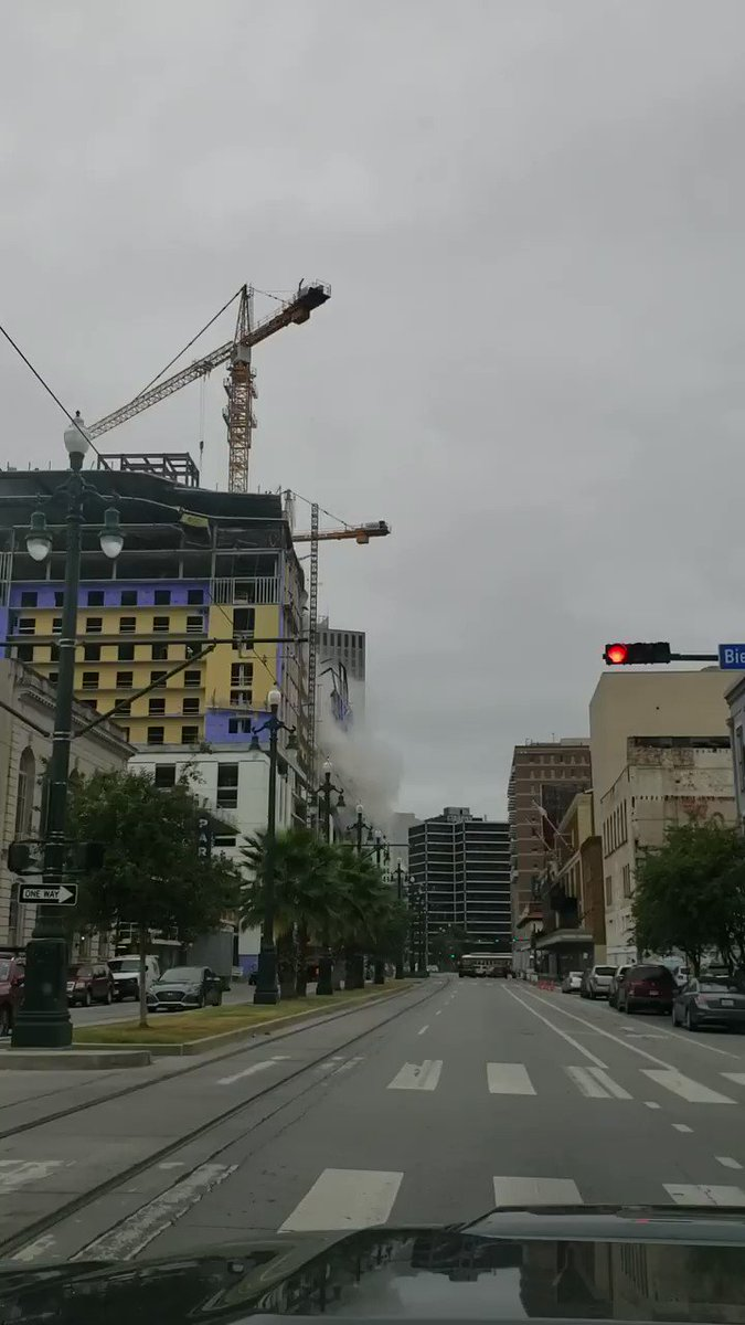 INCREDIBLE VIDEO: Viewer video from Michael Dalle captures the moment the construction site for the Hard Rock Hotel collapsed on Canal Street Saturday morning. No injuries reported. Stay with WWL-TV for more.