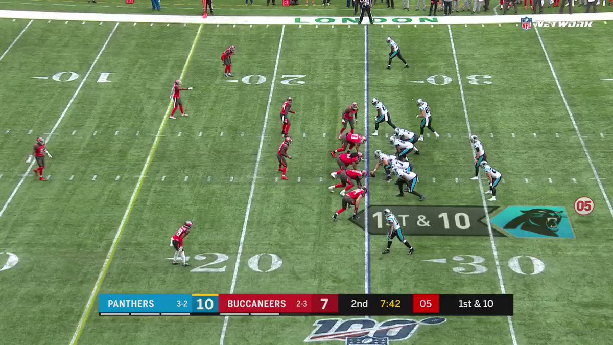 McCaffrey turned the field into a slip n slide 😳 #CARvsTB (via @Panthers)