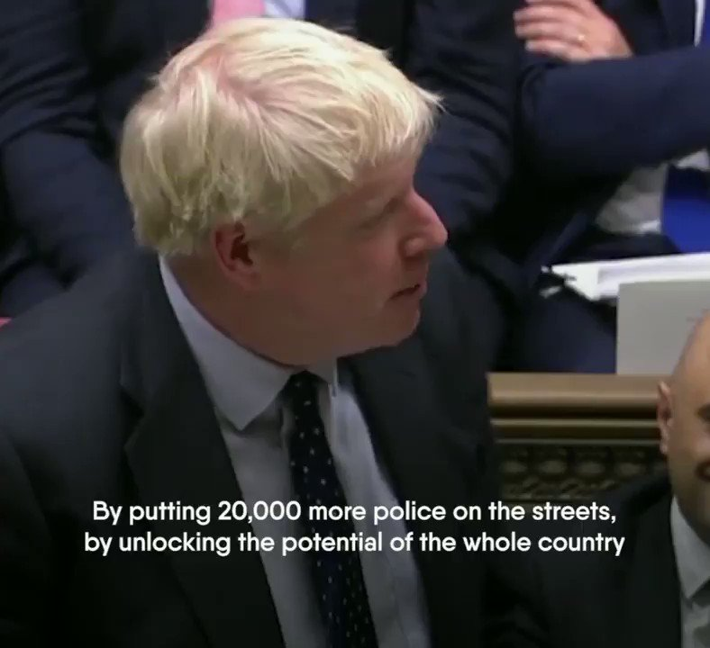 🗣@BorisJohnson: We aim to create a new age of opportunity for the whole country. ✔️ With 20,000 more police. ✔️ With new infrastructure. ✔️ With better education. ✔️ With high technology.