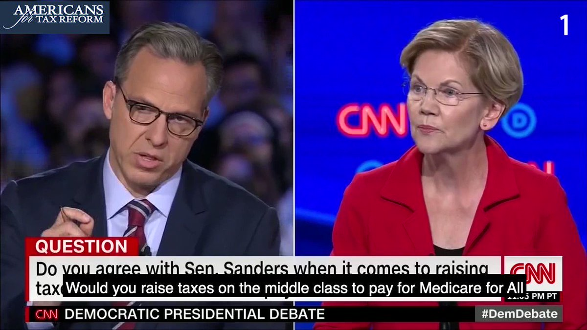 WATCH: Elizabeth Warren has dodged the question will your Medicare for All plan raise taxes on the middle class? AT LEAST 1⃣7⃣ times! The answer is YES, but she doesn't want to be honest with the American people.