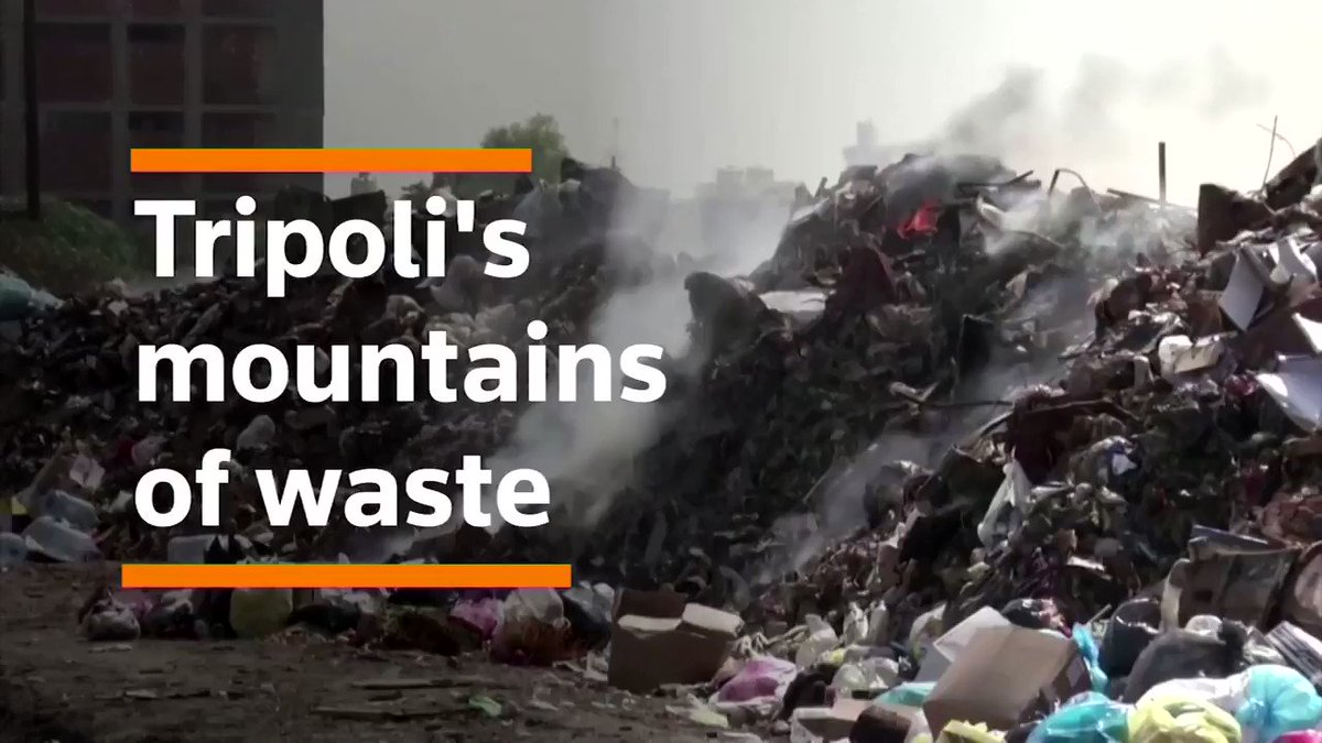 Mounds of trash pile up on the streets of Tripoli https://reut.rs/31gioIK