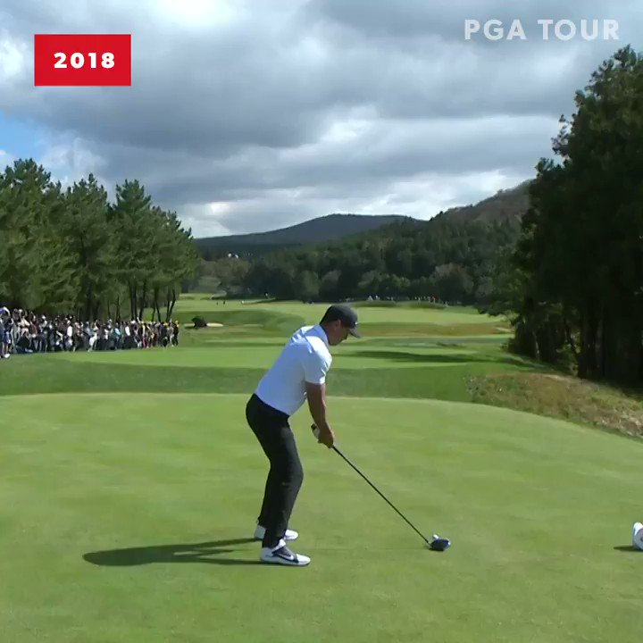 Popped up drive... ... still reached this par 5 in two. @BKoepka is strong. 💪 #TOURVault