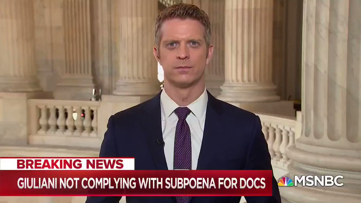 "TONIGHT: @HansNichols says the line across the White House is that they will not cooperate with subpoenas. #MTPDaily ""What we may test crucially with John Bolton is what happens if the former WH employee does want to testify."
