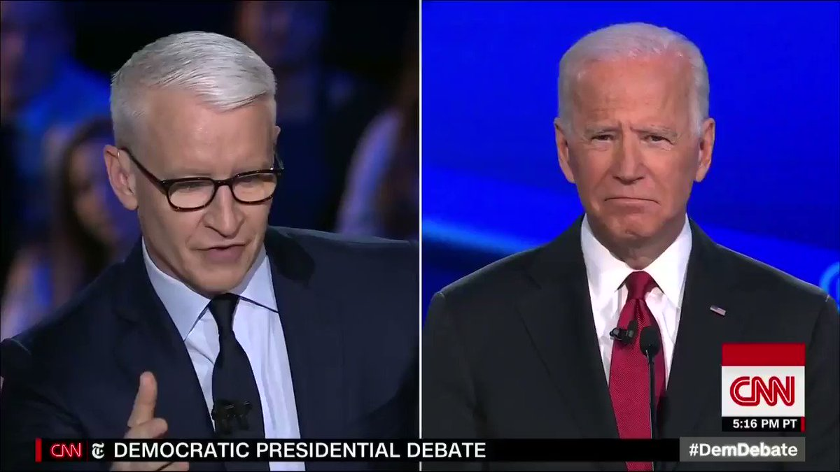 "CNN's Anderson Cooper runs interference for the Democrats, claims that Trump ""falsely"" accused Biden of corruption Biden responds by lying, falsely claims that he never talk to his son about business. Even his son said that he did."