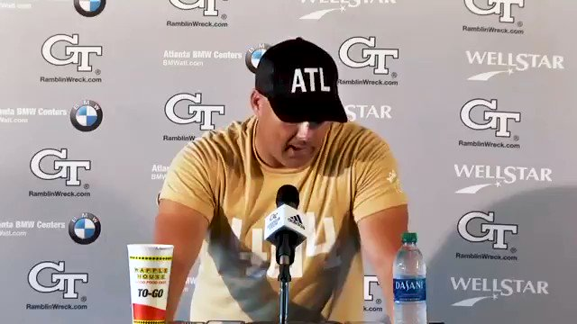 """""""Being negative is guaranteed not to work. Being POSITIVE and building these guys up as we develop this program is guaranteed to work."""" #404theCULTURE Full @CoachCollins press conference coverage: buzz.gt/GCpressGm7-19"""