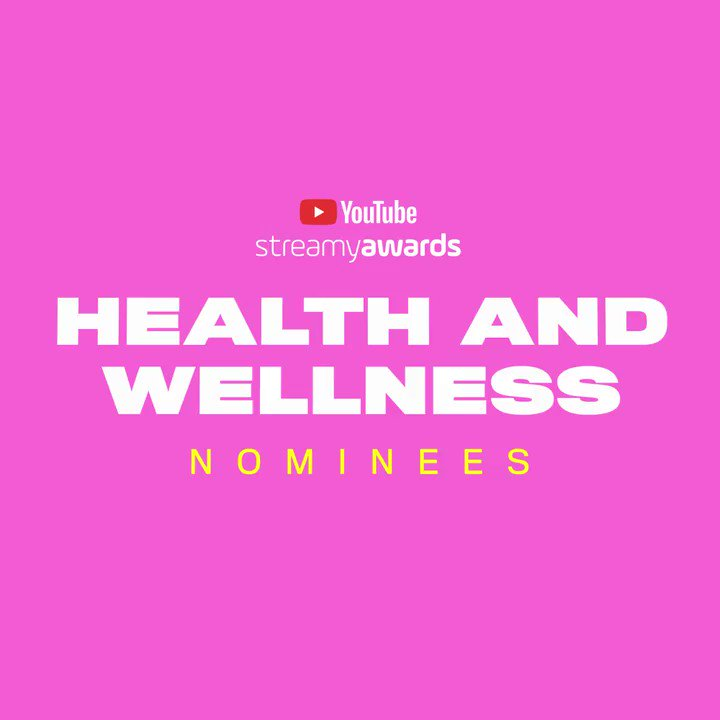 #streamys  Health and Wellness nominees: ▪️