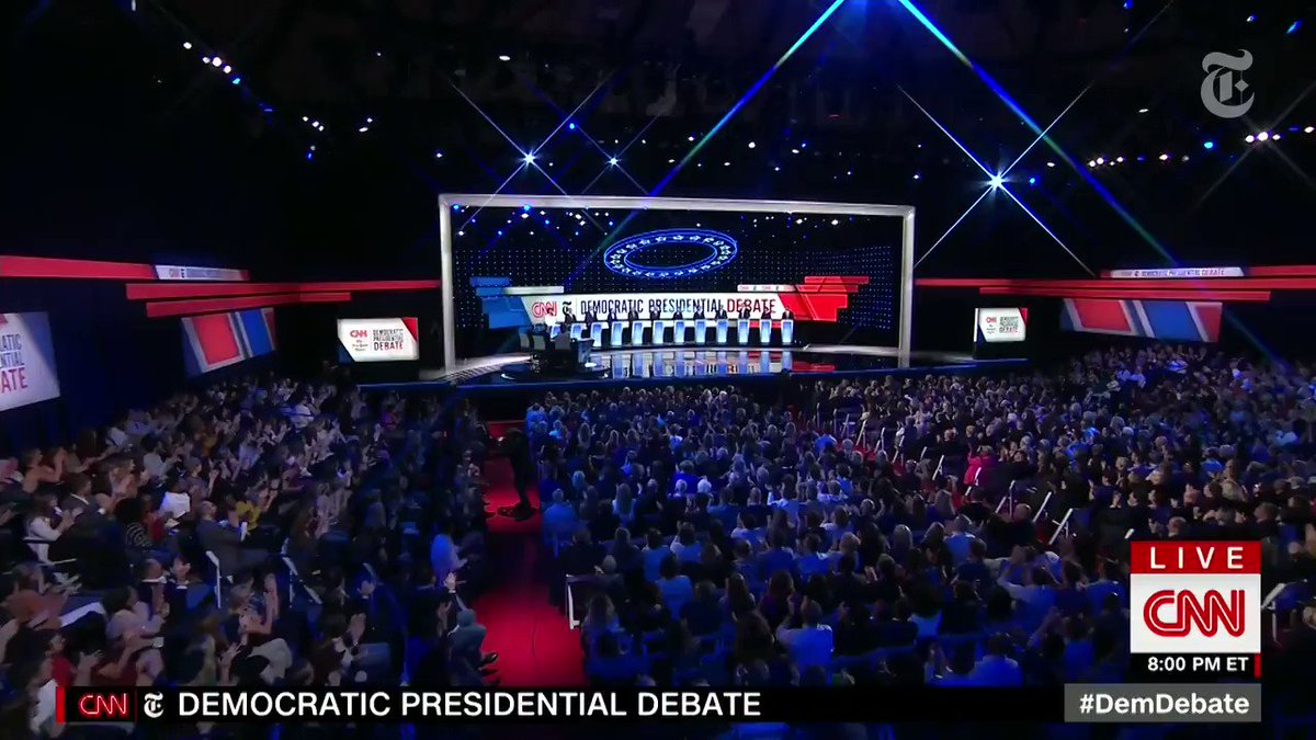 Catch up on the key moments from the first half of the #DemocraticDebate: