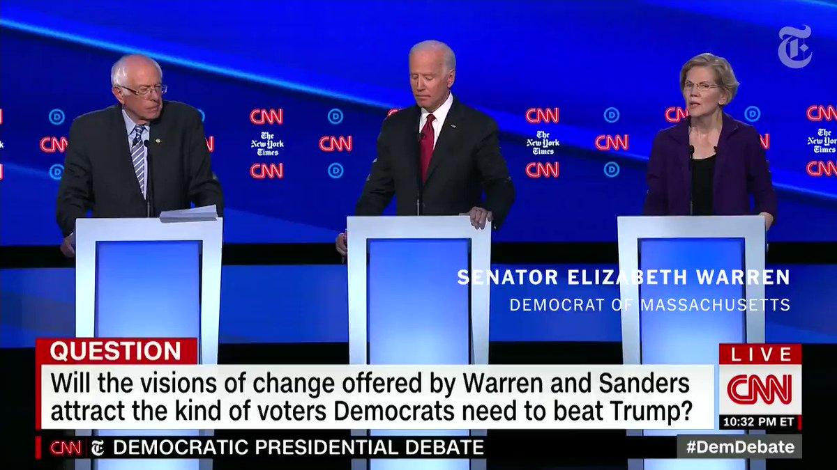 Every Woman Noticed That Infuriating Elizabeth Warren/Joe Biden Debate Moment