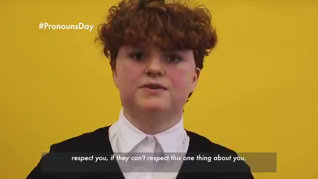 #PronounsDay  is important for all of us - as the young LGBTQ+ people @ThinkingFilm  interviewed for this video put it, You dont have to be trans to respect pronouns.  Watch them explain why respecting pronouns is important:  https://youtu.be/ux73lWRsxtM