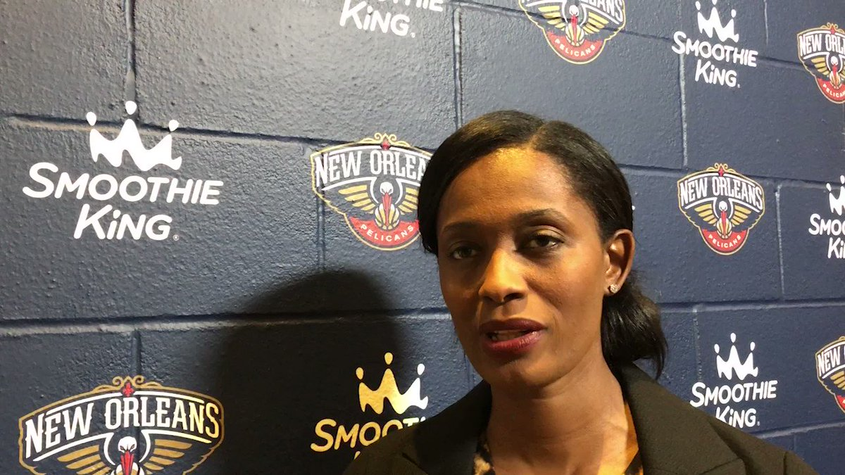"""Former WNBA star Swin Cash says that having more female assistant coaches in the NBA leads to """"diversity of thought."""" She serves as vice president of operations and team development for the New Orleans Pelicans (@PelicansNBA).More at http://apne.ws/n1qbX1u"""