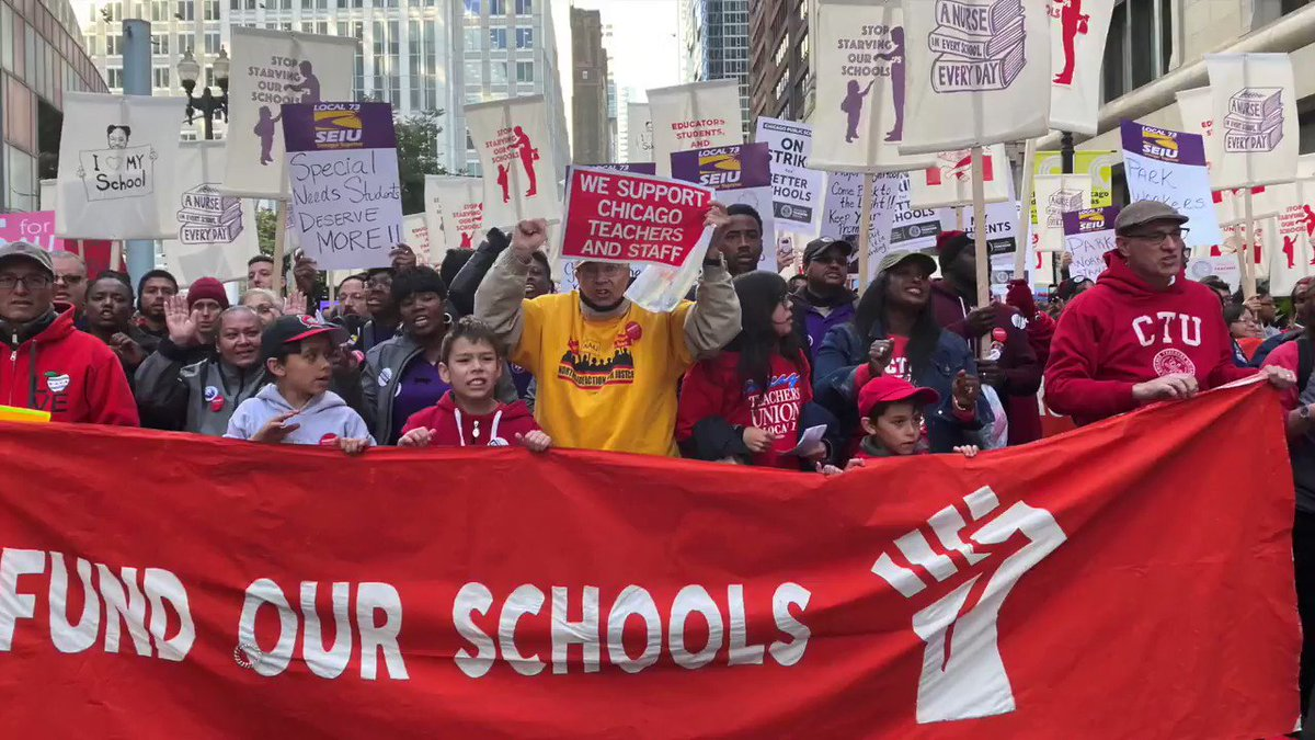 Chicago's public schools - the third-largest public education system in the country - will be closed Thursday as 25,000 teachers prepare to walk off the job https://reut.rs/2qkAvQU via @ReutersTV