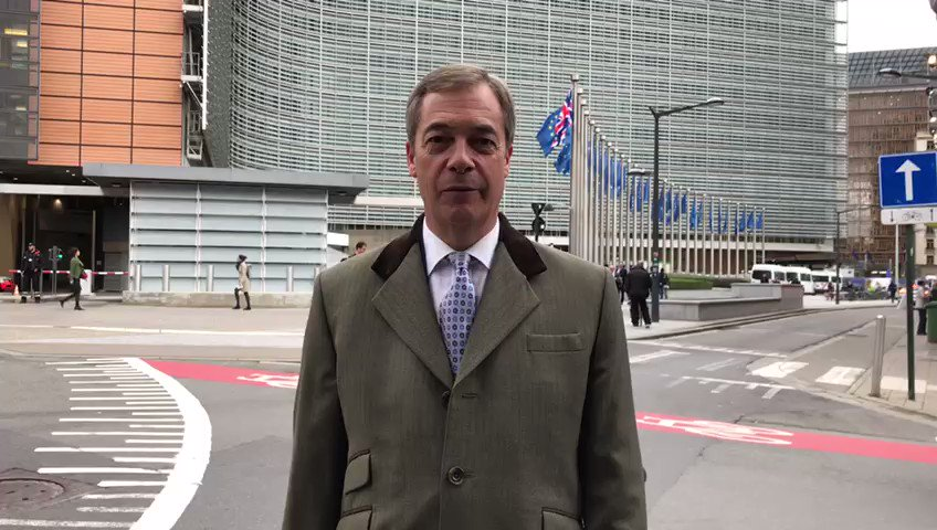 Nigel Farage gives his immediate reaction to Boris Johnson's Brexit deal from outside the EU HQ in Brussels.   @nigel_farage | #Brexit https://t.co/S5sfMQudOd
