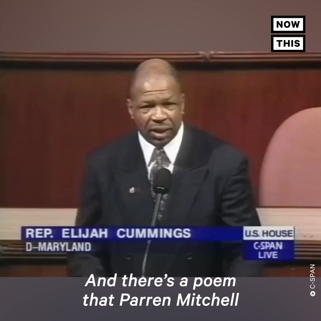 'I only have a minute, 60 seconds in it, forced upon me, I did not choose it, but I know that I must use it, give account if I abuse it, suffer if I lose it. Only a tiny little minute, but eternity is in it.' — Rep. Elijah Cummings' first floor speech is all too resonant today