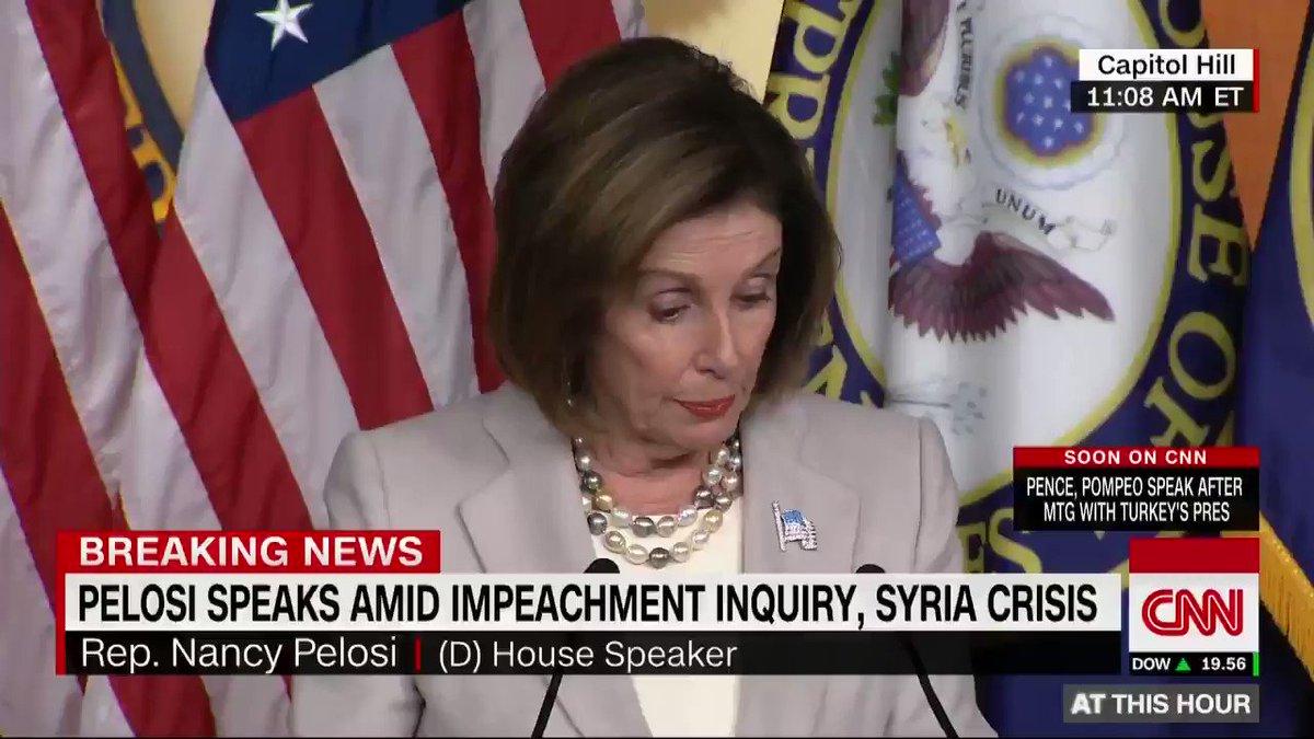 Speaker Nancy Pelosi calls President Trumps behavior at a White House meeting a meltdown