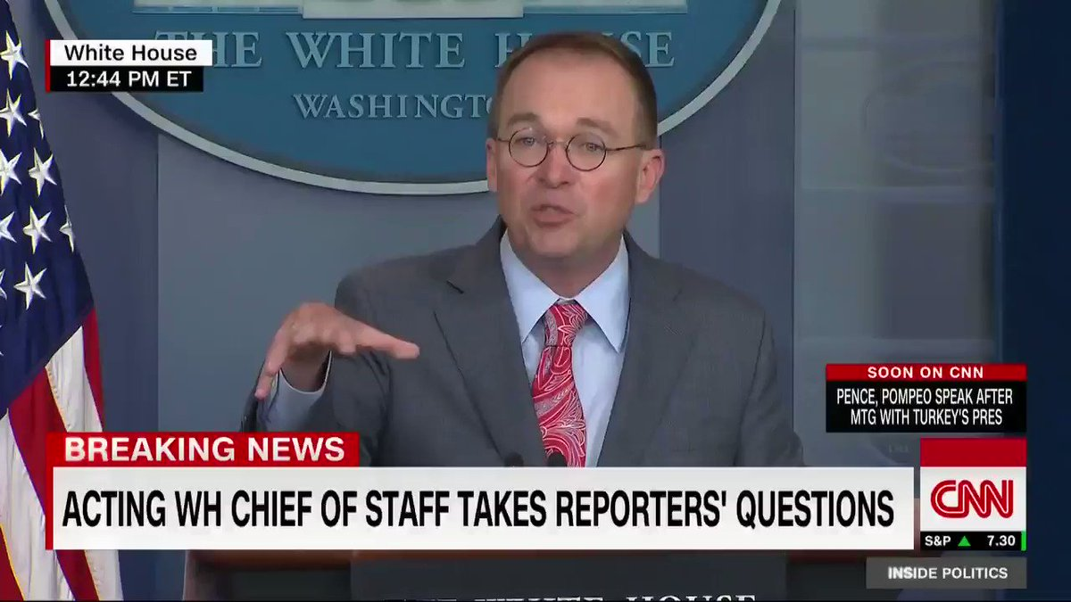 Acting White House chief of staff Mick Mulvaney said he was skeptical about holding the G7 summit at Trumps Florida resort and aware of possible criticism: I was so surprised when the advance team called back and said this is the perfect physical location to do this