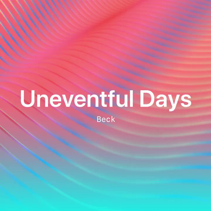 New music from @beck is here. Listen to #UneventfulDays from his upcoming album #Hyperspace now on the #NewMusicDaily playlist: http://apple.co/NewMusicDaily