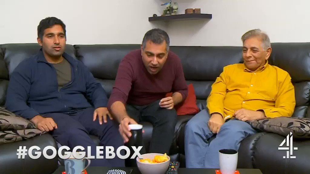 When a whole hand is just too awkward… #handshake #Gogglebox