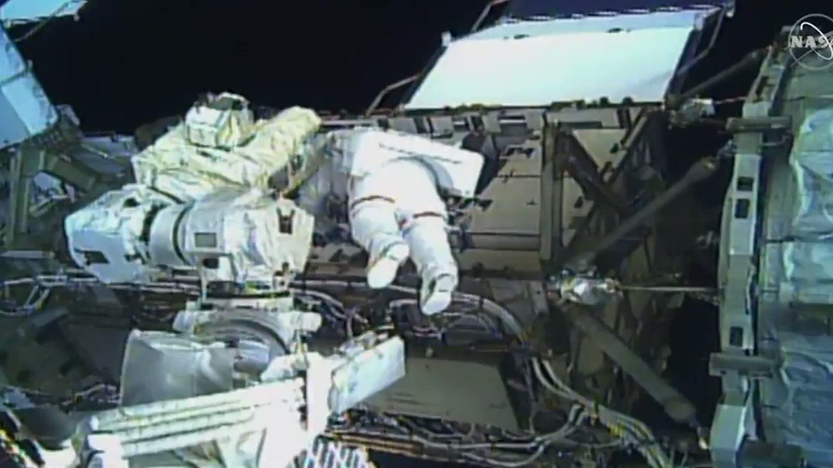 NASA astronauts Christina Koch and Jessica Meir successfully conducted the first all-female spacewalk cnn.it/2pAoCpo