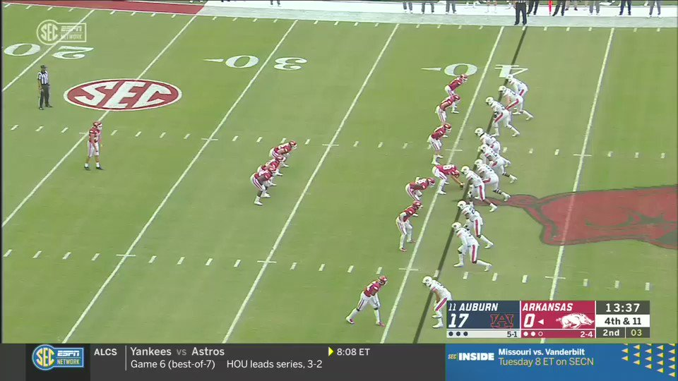 If you need a good laugh, watch this embarrassing fake punt attempt by Arkansas