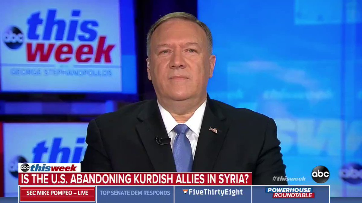 The Turks said they got everything they wanted. Pompeo: We achieved the outcome that Trump sent us to achieve. The Turks got no sanctions & Kurdish land. The US got a 5-day ceasefire that lasted 6 hours so our allies wouldnt be ethnically cleansed.