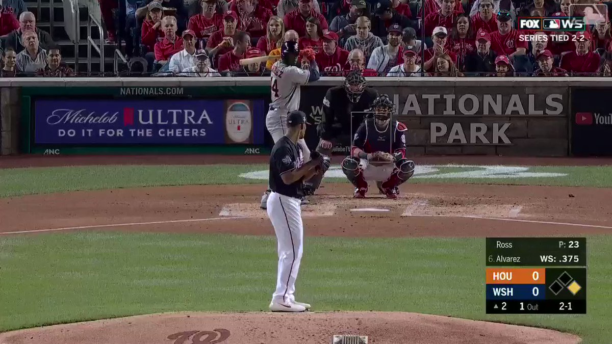 World Series: Nationals fan refuses to drop beer, takes ball to chest