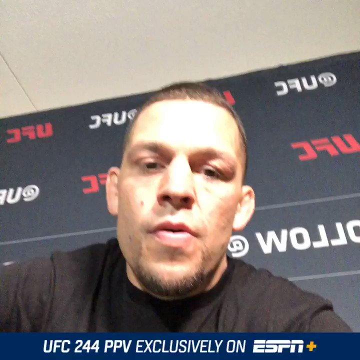 Tune in on ESPN+ Saturday #UFC244  #AskDiaz