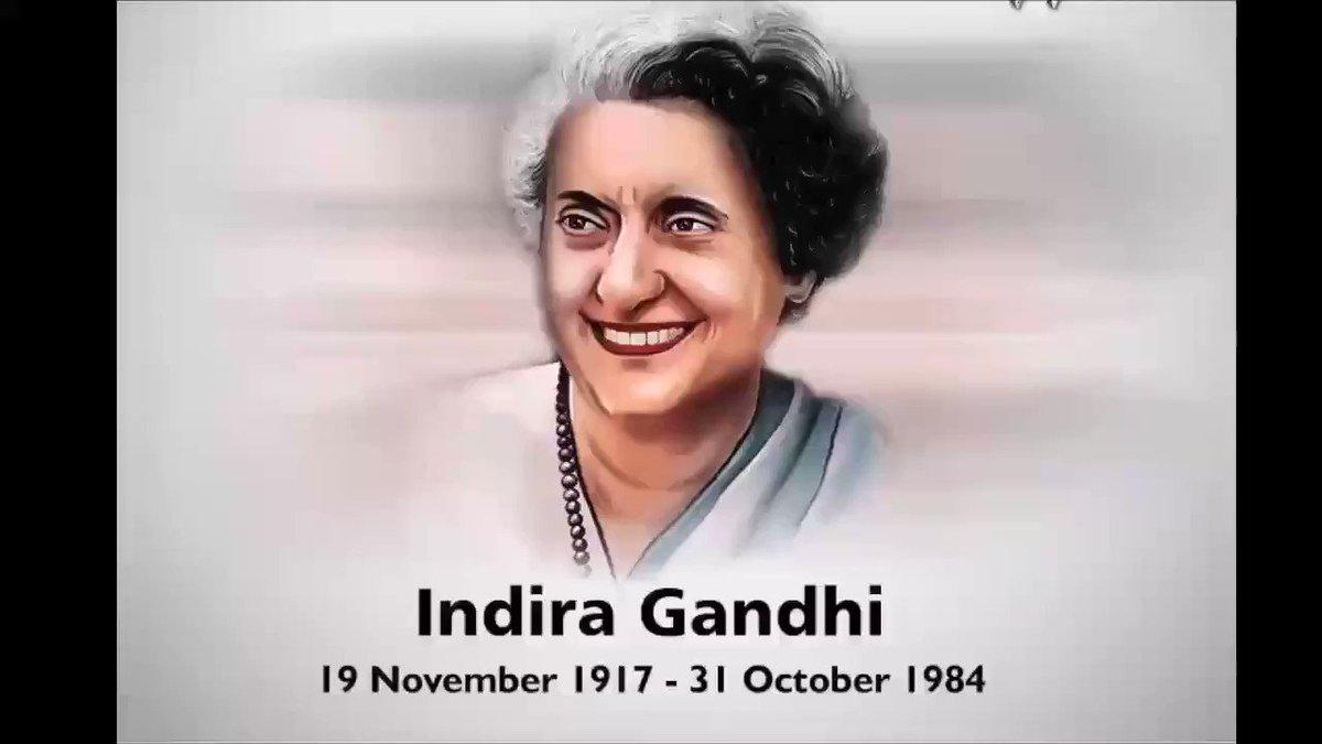 इंदिरा जी एक विचार हैं।#IndiraGandhi